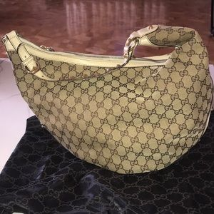 Authentic Gucci Hobo Monogram Hobo Shoulder Bag